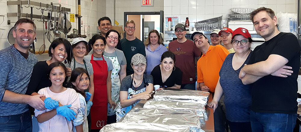 CDIC employees participating in volunteer activities.