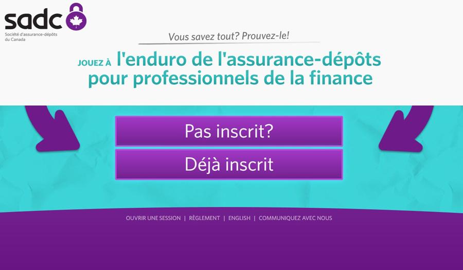 Jouez à l'enduro de l'assurance-dépôts, pour professionnels de la finance