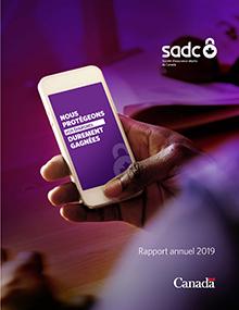 page converture du rapport annuel de 2018